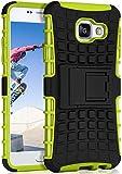 ONEFLOW Samsung Galaxy A3 (2016)   Hülle Silikon Hard-Case Grün Outdoor Back-Cover Extrem Stoßfest Schutzhülle Grip Handyhüll