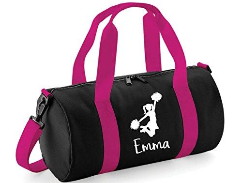 Beyondsome Mädchen-Set mit Cheerleading Gym Bag, Black & Fuchsia Pink/White Print, Einheitsgröße