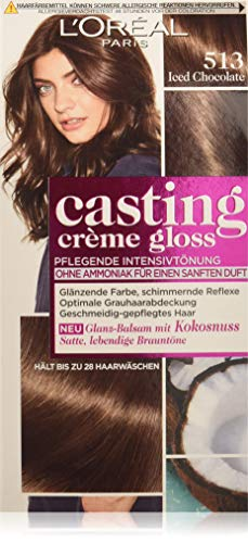L'Oréal Paris Casting Crème Gloss Glanz-Reflex-Intensivtönung 513 in Iced Chocolate, 3er Pack