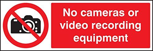 Caledonia signos no 23637G equipo de grabación de vídeo de cámaras o señal, vinilo autoadhesivo, 300mm x 100mm