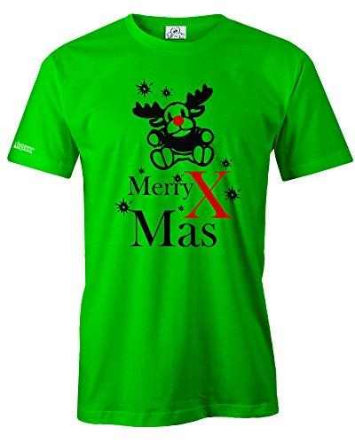 MERRY X MAS - MERRY CHRISTMAS - WEIHNACHTEN - WINTER - HERREN - T-SHIRT Grün