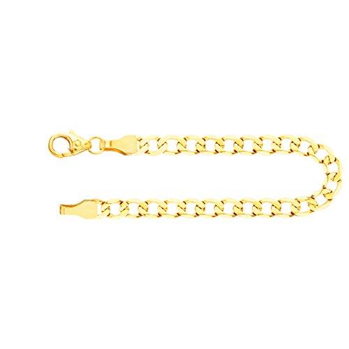 Armband Panzerkette weit Gelbgold 585/14 K, Länge 21 cm, Breite 3.9 mm, Gewicht ca. 4.4 g, NEU - 14k Gold Herren Gelb Armband