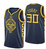 MTBD Camiseta de Baloncesto para Hombres - NBA Warriors Golden State # 30 Stephen Curry Camiseta de Baloncesto Unisex Sportswear Camiseta