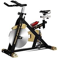 Fitness House Racer Sports Gold - Bicicleta de Ciclismo Indoor, Color Negro/Dorado, tamaño única