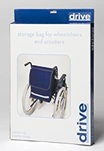 Drive DeVilbiss Healthcare Mobility Electric / Manual Wheelchair and Powerchair/Scooter Seat Bag in Navy