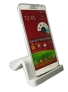Emartbuy® Samsung Galaxy Note 3 Neo Weiß Wave Design Kompatibel Premium Desktop Docking Ladestation / Ladegerät