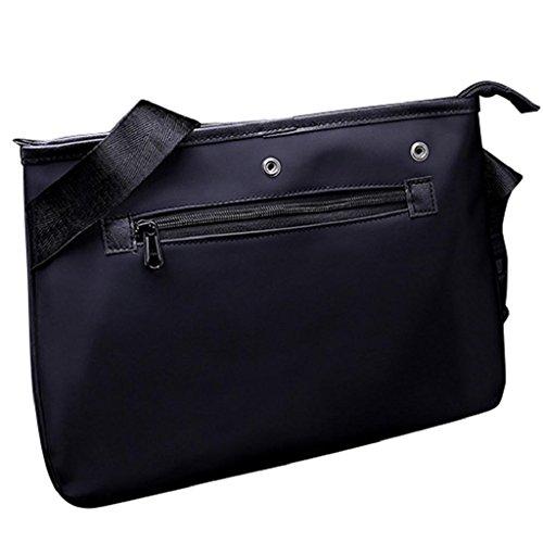 2017 Kangrunmy Gli uomini della borsa di modo di nylon a tracolla grande borsa Tote Nero