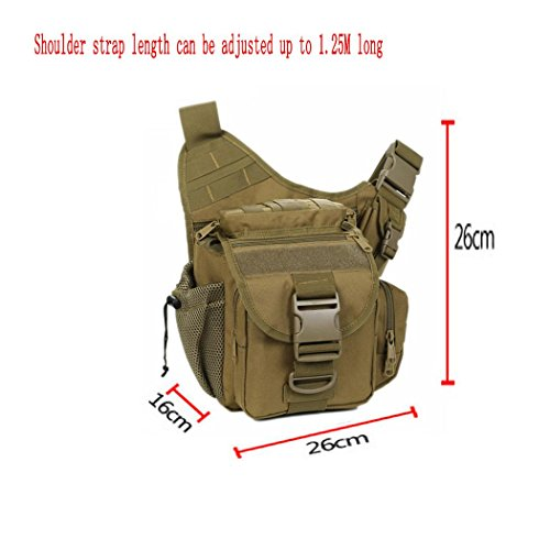 Leichtes Wandern Backpack Outdoor Multifunktions photography Angeln Camping Small Umhängetasche Tasche Camouflage Serie Rucksack Oblique Cross Package Khaki