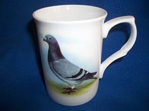 Racing Pigeon White Ceramic China Mug
