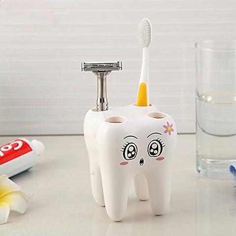 ozuzu (TM) Cute Cartoon 4fori porta spazzolino denti stile supporto contenitore da bagno accessori # EE