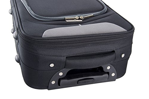 41WVqVs%2BIaL - Maleta semirrígida PIERRE CARDIN negro mini equipaje de mano ryanair VS11