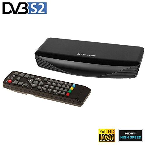 Eurosell - Digital Full HD DVB-S2 SAT Receiver Digital Reciever Empfänger DVBS2 1080p HDTV - OSD EPG - USB HDMI SCART
