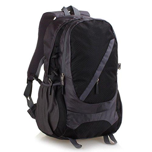 Outdoor Schulter Rucksack Wasserdicht Bergsteigen Tasche Camping Tasche Black