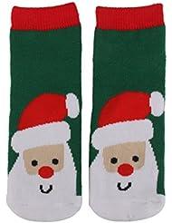 1 Paire Chaussettes Enfant Nouveauté Cadeau de Noël (1-3 Ans, Motif de Père Noël)
