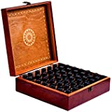 Red 49 : Beautiful Essential Oil Box 49-Bottle- Holds 5-10-15-30ML 1oz & 10ml Roll On Bottles- Comes W/ 1 METAL...