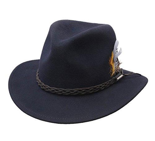 Stetson - Chapeau Fedora imperméable Feutre - 2 Coloris - Homme ou Femme Newark