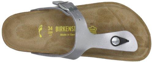 Birkenstock Gizeh, Gizeh mixte adulte Argent (silver)