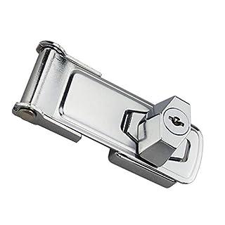 NaiCasy Schrank Schloss Schublade Schloss Keyed Hasp Lock Twist Knauf Keyed Hasp Schublade Locker 3in