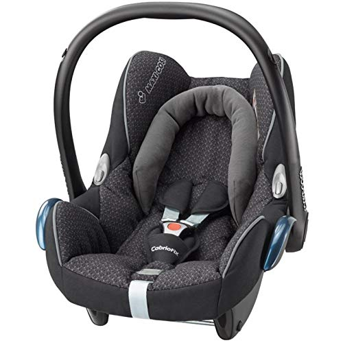 Maxi-Cosi CabrioFix Babyschale, Gruppe 0+ Kindersitz (0-13 kg), nutzbar ab der Geburt bis ca. 12 Monate, Kollektion 2016, black crystal
