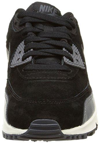Nike Wmns Air Max 90 Lthr, Chaussures de Sport Femme noir (Black/Mtlc Hematite-Drk Gry-Sl)