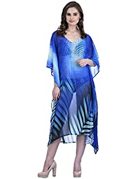 b54e51013fec Trendif Women s Multicolor Digital Print Beach Wear Kaftan and Cover-up