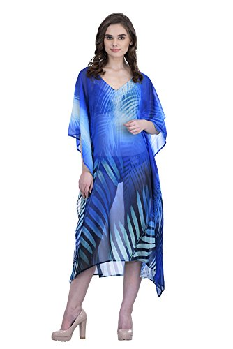 Trendif Women's Multicolor Digital Print Beach Wear Kaftan and Cover-up