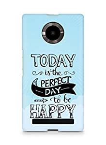 AMEZ today is the perfect day to be happy Back Cover For YU Yupheria