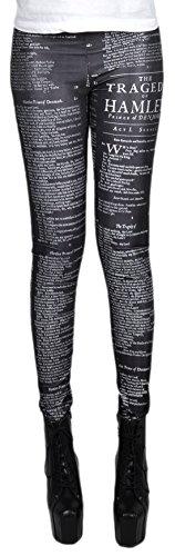 erdbeerloft - Damen Mädchen Leggins Leggings Hamlet Passagen Print, One Size S-M-L, (Hamlet Kostüme)