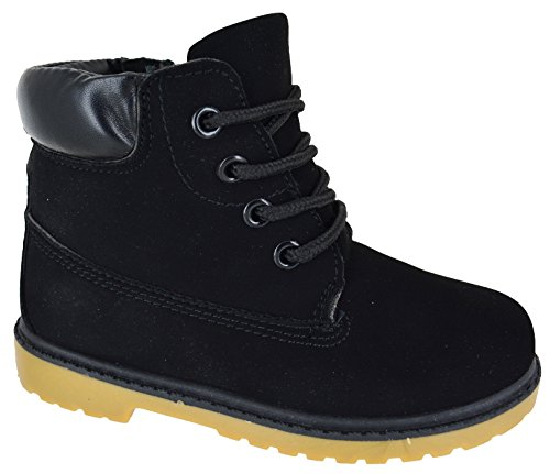 OTHER Kids Boys Girls Grip Sole Warm Winter Lace UP Ankle Zip Trainers Boots Size 8-13