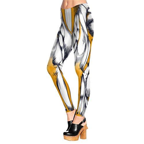 Kräftiger Muskel Drucken Knöchel Leggins Leichte Voller Länge Leggins Für Frauen
