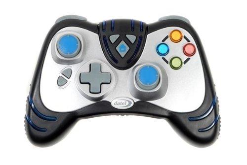 Xbox360 Wireless WildFire2-Controller (Schwarz) mit - Blau Controller Xbox Led 360