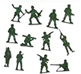 Bag of 50 Traditional Green Plastic Toy Soldiers for Army Military War Games - Unknown - amazon.co.uk