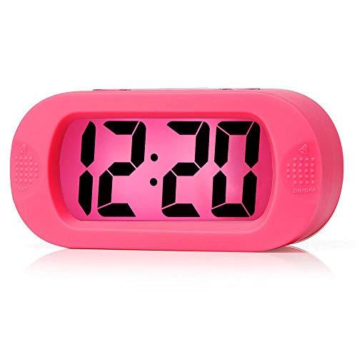 Alarm Handheld Radio (ZOUQILAI Digital Travel Wecker große Wecker mit Snooze Nachtlicht Sound Alarm & Handheld-Größe Kinder)