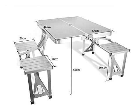 tables et chaises pliantes barbecue pavillons de pique-nique industrie de l'exposition de recrutement tenue - Thicker alliage d'aluminium extérieur main conjoint