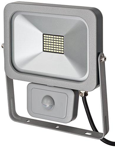 Brennenstuhl Projecteur LED SLIM (30 W, 2530 Lumens, avec detecteur de mouvement, usage interieur et exterieur IP54), Aluminium