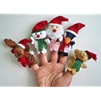 5X Christmas Finger Puppets. 5 Styles per Set: Reindeer, Snowman, Santa, Penguin and Teddy Bear