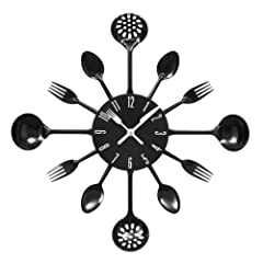 Idea Regalo - Premier Housewares PREM-2200502 Orologio da Parete, Metallo, Nero, 33x4x33 cm