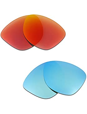 Hkuco Plus Mens Replacement Lenses For Oakley Frogskins Sunglasses Red/Blue Polarized