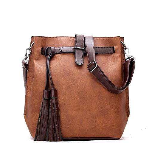 Schulter Messenger Bag Mode Quaste Eimer Brieftasche ()