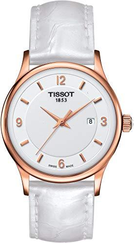 TISSOT - Montre Femme Tissot Rose Dream Quartz T9142104601700 Bracelet Cuir Blanc - T9142104601700