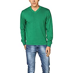 Provogue Mens Woolen Sweater (8903522444807_103568-GR-108_Large_Green)