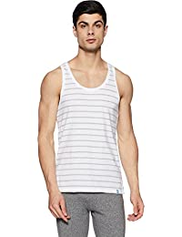 United Colors of Benetton Men's Cotton Vest (LM70I_Small_White and Grey)-902