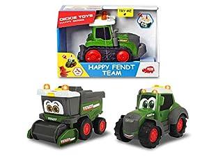Dickie Toys 203812005 Happy Fendt Team - Coches de Juguete para niños a Partir de 1 año (Tractor, Coche de Juguete, luz y Sonido, 3 Modelos), Color Verde