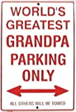 Best Grandpa Sign - Metal Parking Sign - World's Greatest Grandpa Review