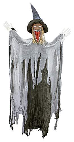 oween Dekofigur Grusel Hexe - 170 cm - Hängende Geister Party Dekoration ()