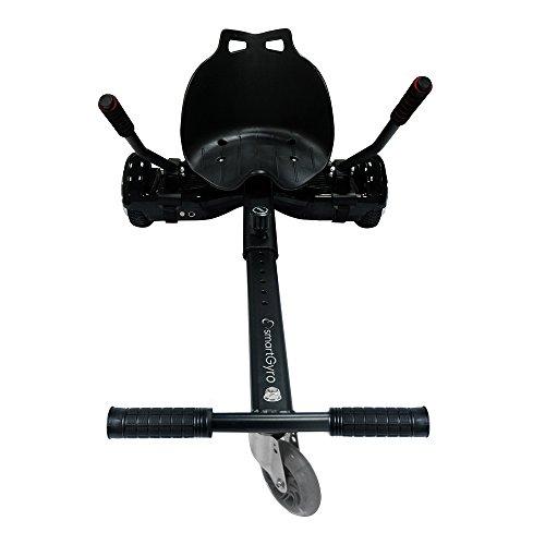 SmartGyro Go-Kart Pro Black - Sillin Adaptable, Convierte tu patín eléctrico en un Kart, Color Negro