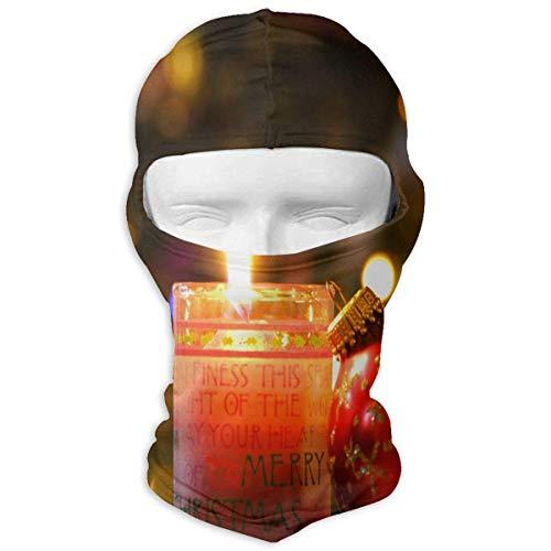 keiwiornb Balaclava Windproof Ski Mask-Balaclava Christmas Candle Full Face Masks Ski Headcover Motorcycle Cycling