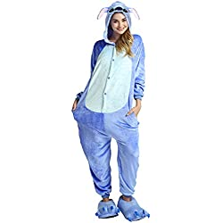 Ninimour Disfraces Pajamas Kigurumi Cosplay Costume Homewear Lounge Sleepwear Blue Koala L