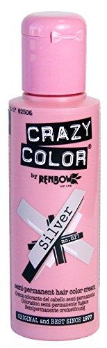 Crazy Color Semi Permanent Hair Color Cream Silver No.27 100ml , 4 Count by Crazy Color -