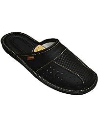 BeComfy Chaussures en Cuir Pour Homme Chaussons Mules Boîte à Cadeau en Option Modèle MZ02
